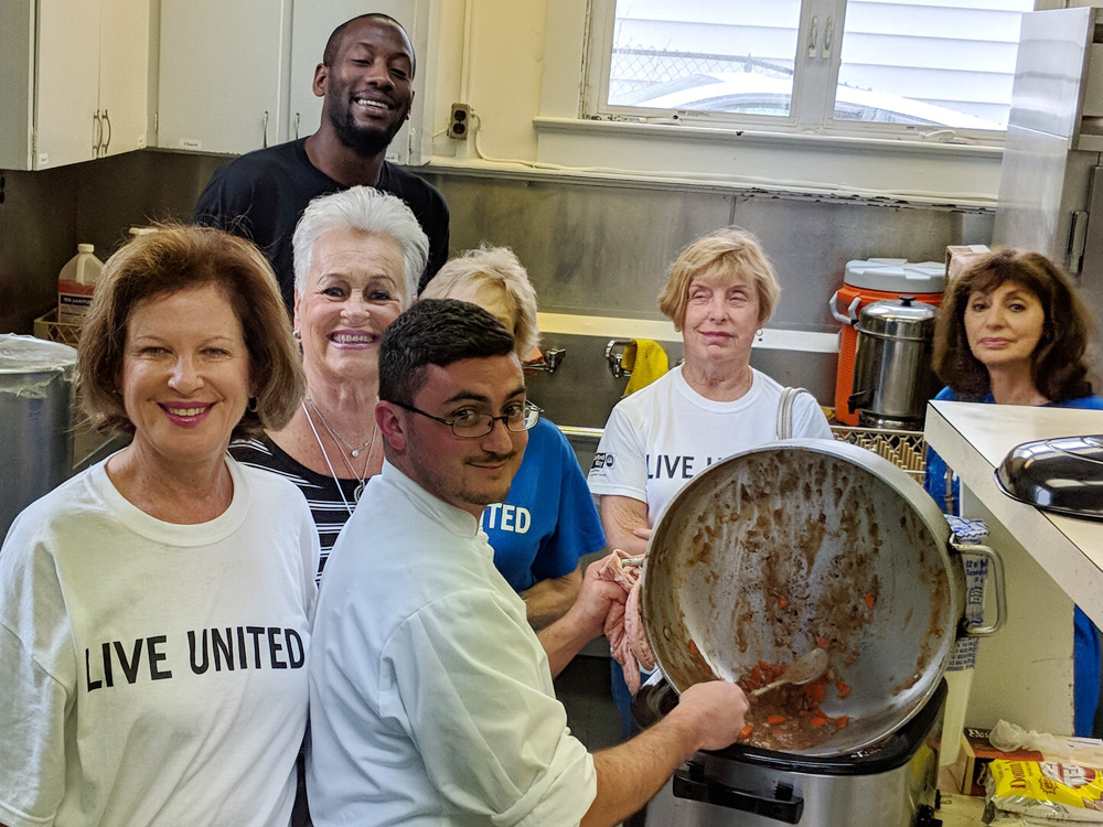 Project Cares cooking
