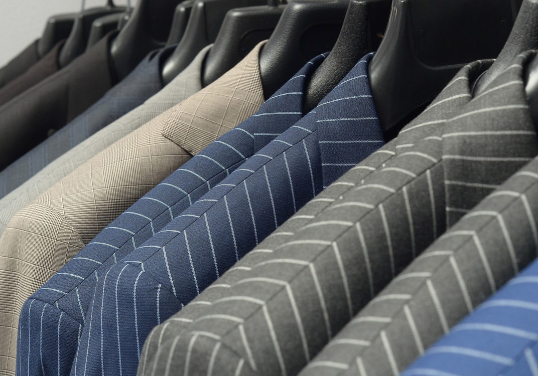 suits on hangers for work preparedness
